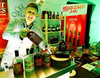 Degustace rumu,Praha, degustace doutníků